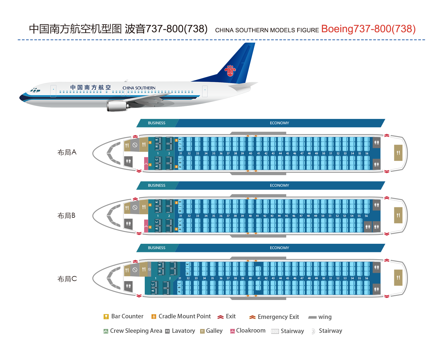 Boeing 737 800 738 China Southern Airlines